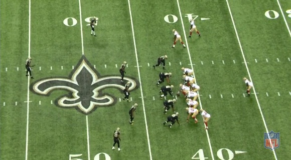 Saints 4-4 vs pass